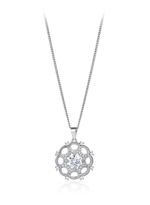 Tophills Diamond Co. 1,40 Ct Pırlanta Efekt Altın Artdeco Valeria Kolye  Renkli